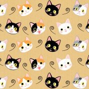 Best Wrapping Paper Cute Cats Portrait Wrapping Paper