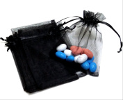 100 3.5x4.5 Black Organza Bags (9x12cm) Mesh Gift Bags Organza Gift Bags Party Wedding Favour Bags BBSuppliesandGifts