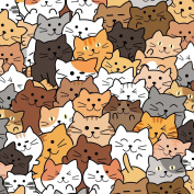Best Wrapping Paper Crowded Funny Cute Cats Collection Wrapping Paper