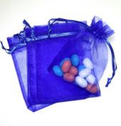 50 3.5x4.5 Royal Blue Organza Bags (9x12cm) Mesh Gift Bags BBSuppliesandGifts