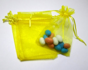 50 3.5x4.5 Black Organza Bags (9x12cm) Mesh Gift Bags BBSuppliesandGifts