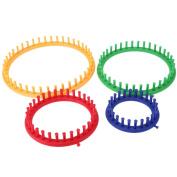 WinnerEco 4 Size Classical Round Circle Hat Knitter Knitting Knit Loom Kit