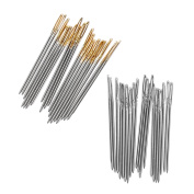 Kangkang@ 100 PCS Steel Embroidery Cross Stitch Hand Needles Tool Smooth Sturdy Embroidery Accessories Size 24 for 11CT 3 Strand