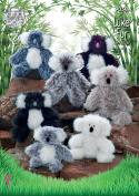 King Cole Luxe Fur Knitting Pattern for Small Medium or Large Koala Bear Toys