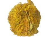 Recycled Sari Silk Super Bulky Yarn - Yellow