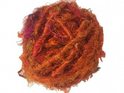 Recycled Sari Silk Super Bulky Yarn - Orange