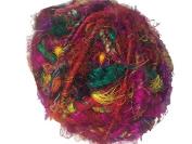 Recycled Sari Silk Super Bulky Yarn - Multicolor
