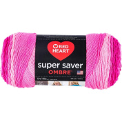 Red Heart Super Saver Ombre Yarn Jazzy Pink