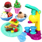 uhoMEy Colourful Air Dry Clay - Plasticine educational toys for toddlers - Clay Magic Crafts Kit with Ice Cream - Kids Toy Creative Game Activity Set