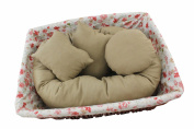 4 PC Newborn Photo Props, Baby Photography Basket Filler Wheat Donut Posing Props Baby Pillow