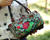 Women Handbag Vintage Style Hand Embroidered Ethnic Fabric Purse patterns