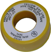 LASCO 11-2610cm by 660cm Yellow PTFE Tape For Gas Line, Extra Heavy