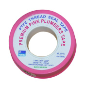 LASCO 11-2620cm by 660cm High Density PTFE Thread Seal Tape, Pink
