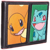 Bioworld Pokemon Starting Characters Bi-Fold Wallet Coin Pouch, 12 cm, Multi Colour