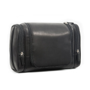 Leatherology Multi Pocket Hanging Toiletry - Full Grain German Leather Leather - Black Oil