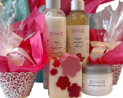 Deluxe Giftwrapped ROSE fragrance, Bath and Body Spa Gift for Women
