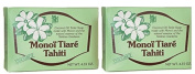 Monoi Tiare Tahiti Coconut Soap Bar (Pack of 2) With Coconut Oil, Natural Essence and Monoi, 130ml