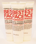 Formula 10.0.6 Best Face Forward Daily Foaming Cleanser Passionfruit Green Tea 50mls Mini Travel Size Lot of Three