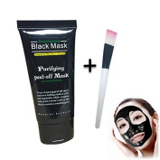 Radiante Blackhead Remover Cleaner Purifying Deep Cleansing Acne Black Mud Face Mask Peel-off + Brush