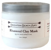 Rhassoul Clay Mask with MSM and Dead Sea Salt, for teen through mature skin, with beneficial ingredients and essential minerals for smooth, clear skin