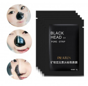 Facial Masks,Tosangn 3pcs Blackhead Remover Mud Deep Cleansing Purifying Peel Acne Face Mask