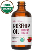 Rosehip Oil by Kate Blanc. USDA Certified Organic, 100% Pure, Cold Pressed, Unrefined. Reduce Acne Scars. Essential Oil for Face, Nails, Hair, and Skin. Natural Moisturiser. 1-Year Guarantee