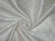 Spun Silk Brocade Fabric Ivory colour 110cm bro171[5]