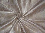 100% cotton brocade ivory with gold metallic motifs BRO543[3]