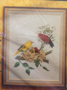 Avon Creative Needlecraft Crewel Embroidery Kit - Scarlet Tangers Picture