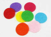 280pcs Mixed Colours Round Circle Padded Felt Appliques Patches Scrapbooking Craft Making Wedding Home Decoration Decor DIY