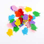 100pcs Chicken Chic Padded Felt Appliques Scrapbooking Craft Making Wedding Home Decoration Decor DIY