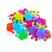100pcs Crown Padded Felt Appliques Scrapbooking Craft Making Wedding Home Decoration Decor DIY
