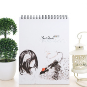 Zhi Jin A4 Thick Paper Spiral Artists Drawing Sketchbook Notebook Journal Notepad Doodles Travel Lily Girl