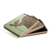 Zhi Jin B5 Reteo Flower Artists Spiral Drawing Sketchbook Notebooks Diary Set Journal Blank Paper Dianthus Versicolor