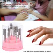 Baomabao 48Hole Nail Drill Bit Holder Stand Pink Organiser Manicure Box Displayer