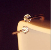Iumer Crystal Sweet And Lovely Peach Heart Retro Colour Ring
