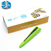 New Improved V5 2017 3D Doodling Pen, Professional 3D Printer In Different Colours, Comes With Refill Filament & USB Compatible Charger, By MY3D