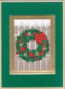 """Brett Collection Christmas Cards """"Cardinal Wreath"""""""