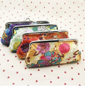Nalmatoionme Creative Women's Coin Purse Embroidery Flower Wallet Money Bag