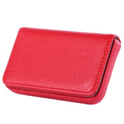 Faux Leather Magnetic Business ID Credit Name Card Holder Pocket Box
