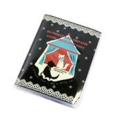 Shinzi Katoh Business / Travel / Calling Cards Holder - Black & White cats Design