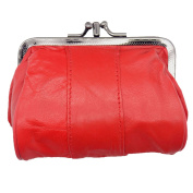 Lambland Womens / Ladies Dual Twist Top Soft Leather Coin Purse