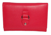 Gorjus real leather small/medium trifold purse style LLP026 New