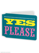 Funny Humorous 'No Thanks / Yes Please' Novelty Travelcard Holder / Oyster Wallet