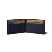 Lucrin - Twin-fold Case for 4 cards - Purple - Granulated Leather