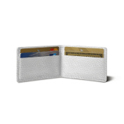 Lucrin - Twin-fold Case for 4 cards - White - Granulated Leather