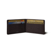 Lucrin - Twin-fold Case for 4 cards - Burgundy - Granulated Leather