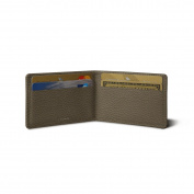 Lucrin - Twin-fold Case for 4 cards - Dark Taupe - Granulated Leather