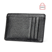 Minimalist Wallet, Boshiho RFID Blocking Genuine Leather Card Case Holder