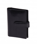 Genuine Leather Small Bifold Travel Oyster Bus Pass Holder Credit Card Wallet Removable Card Sleeves with Gift Box HLG484